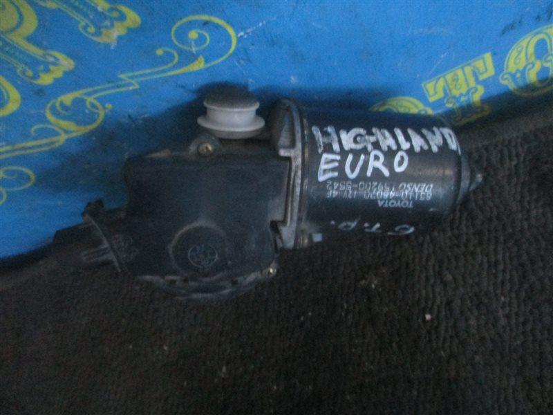 Мотор дворников Toyota Highlander ACU20 передний