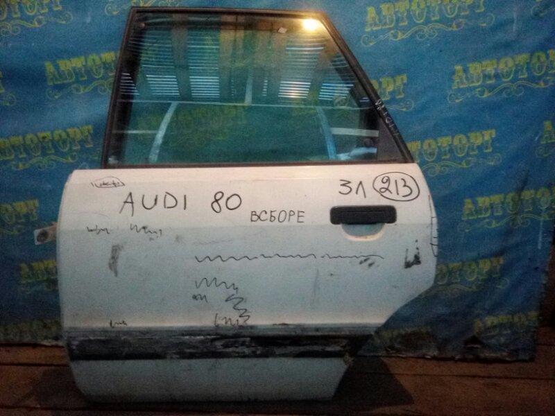 Дверь Audi 80 задняя левая