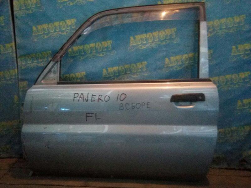Дверь Mitsubishi Pajero Io H66W 4G93 передняя левая