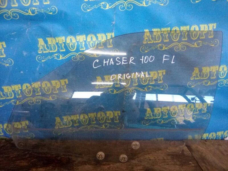 Стекло двери Toyota Chaser GX100 переднее левое