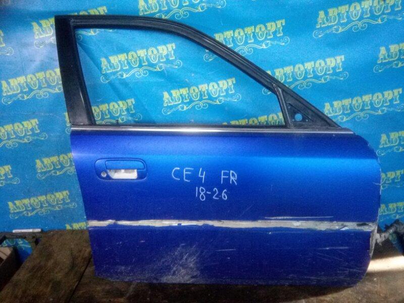 Дверь Honda Ascot CE4 G20A 1994 передняя правая