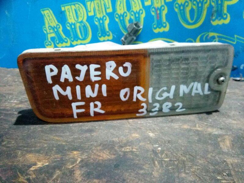 Повторитель бамперный Mitsubishi Pajero Mini H53A передний правый