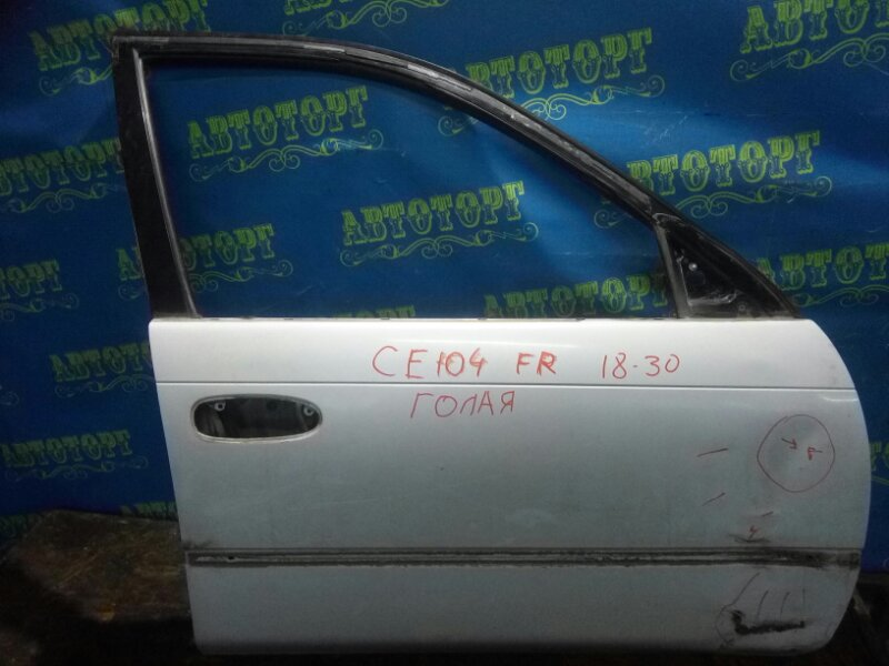 Дверь Toyota Sprinter CE104 2C 2000 передняя правая