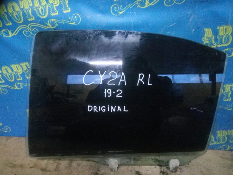 Стекло двери Mitsubishi Lancer X CY2A 4A91 2010 заднее левое