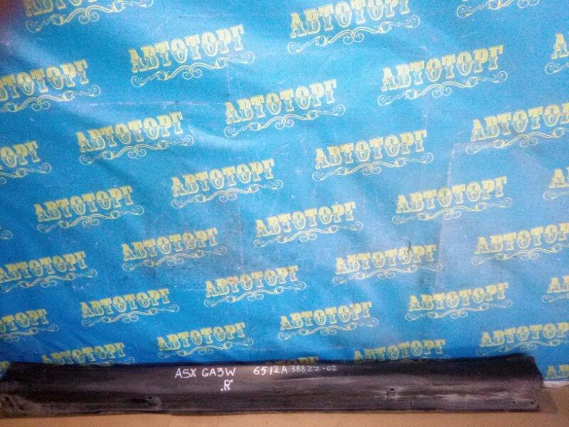 Накладка на порог Mitsubishi Asx GA3W 4B10 2010 правая
