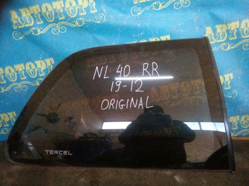 Стекло багажника Toyota Tercel NL41 1N-T 1993 заднее правое