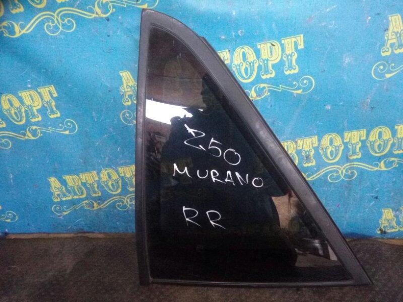 Стекло багажника Nissan Murano Z50 VQ35-DE 2002 заднее правое