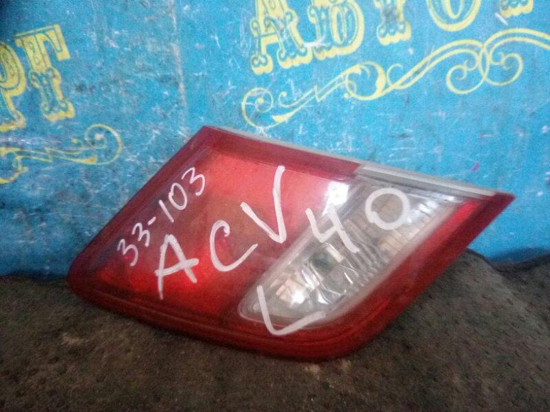 Вставка в багажник Toyota Camry ACV40 2AZ задняя левая