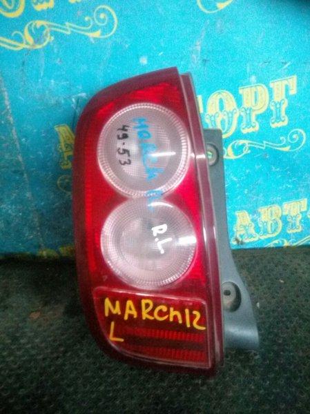 Стоп сигнал Nissan March K12 задний левый