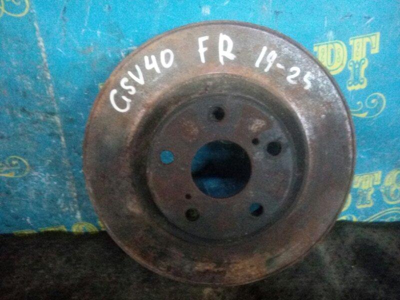 Тормозной диск Toyota Camry GSV40 2GR 2008 передний