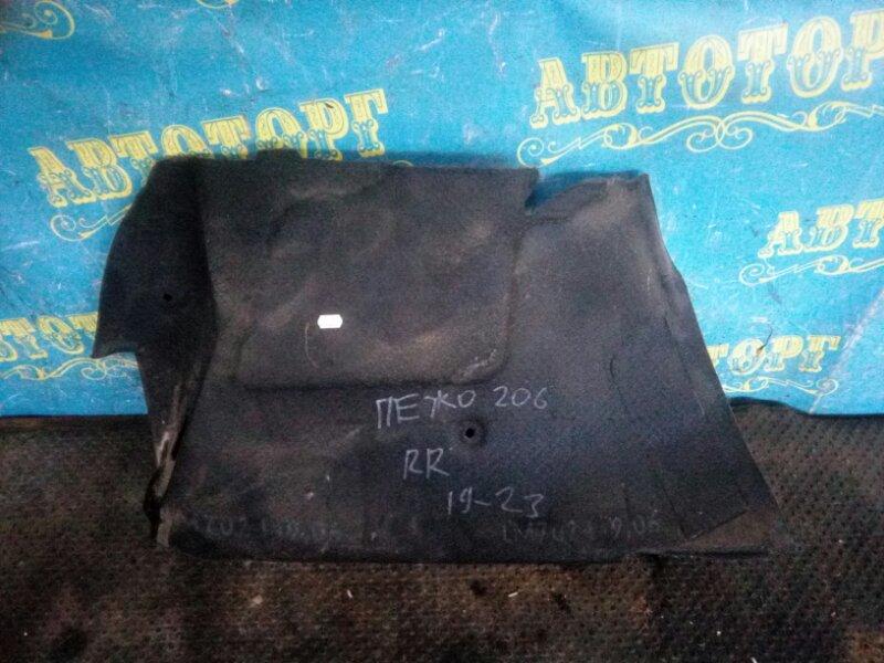 Обшивка багажника Peugeot 206 2AC TU3A 2006 задняя правая
