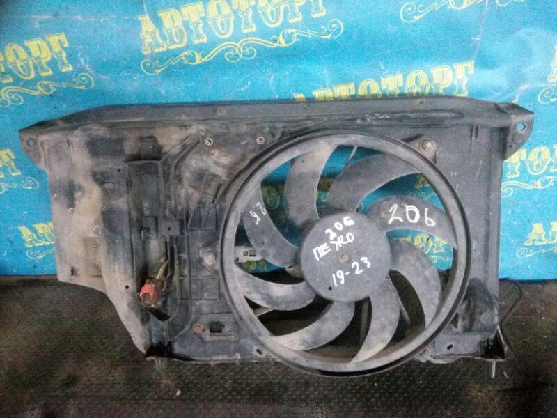 Диффузор радиатора Peugeot 206 2AC TU3A 2006