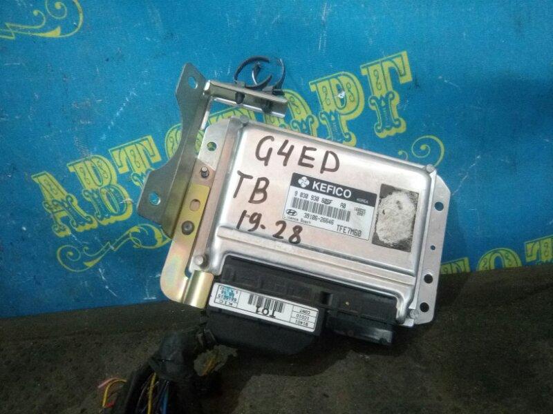 Блок управления двс Hyundai Getz TB G4ED 2004