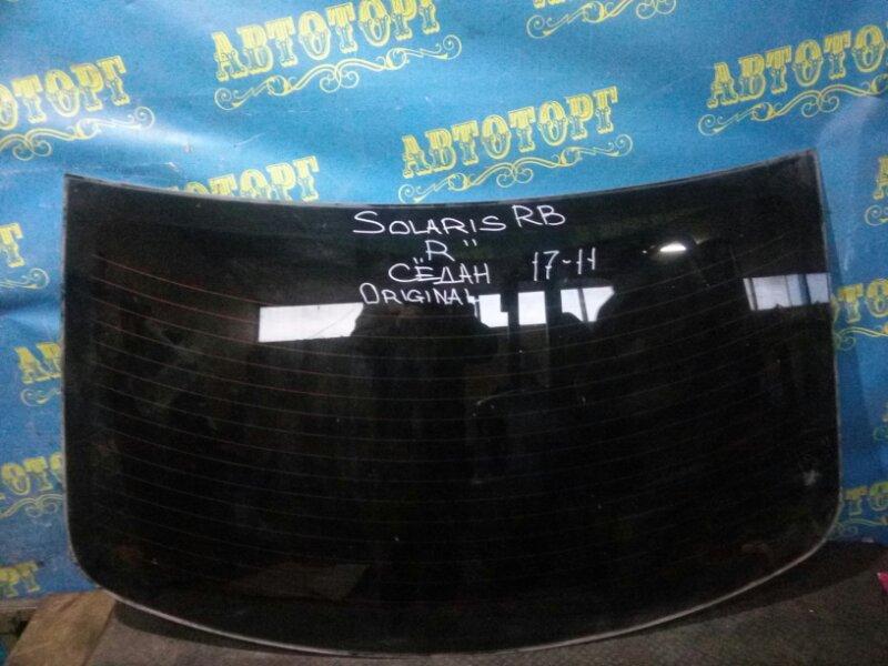Стекло заднее Hyundai Solaris RB G4FC 2013