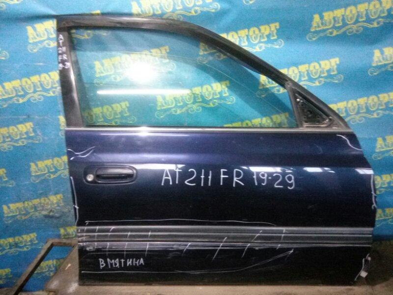 Дверь Toyota Corona Premio AT211 7A 1996 передняя правая