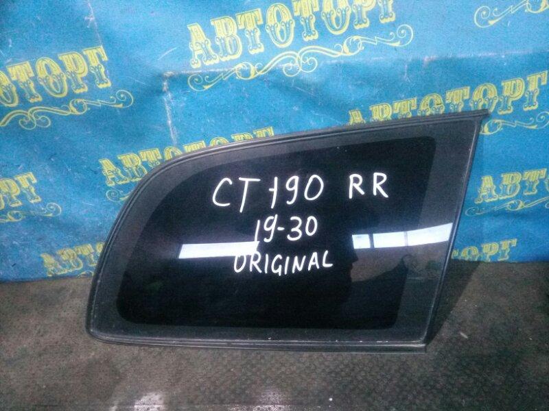 Стекло багажника Toyota Caldina CT190 2C 1993 заднее правое