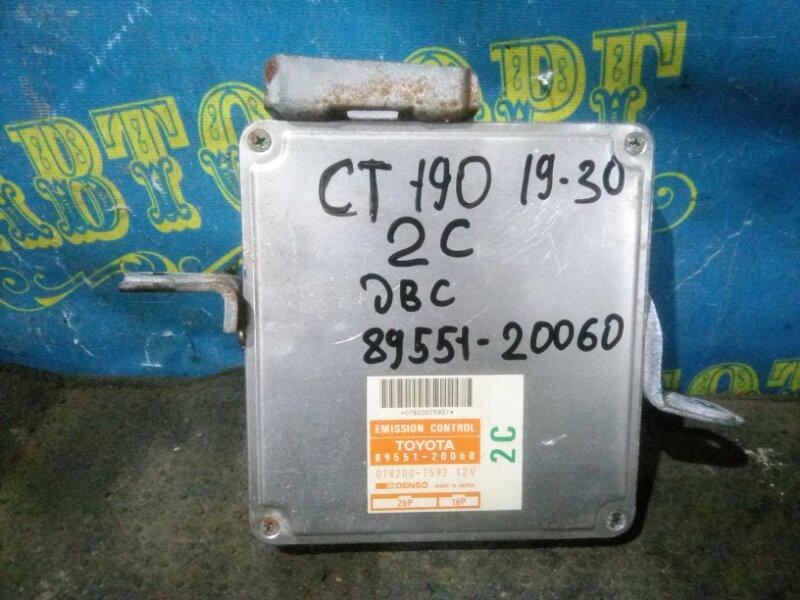 Блок управления двс Toyota Caldina CT190 2C 1993