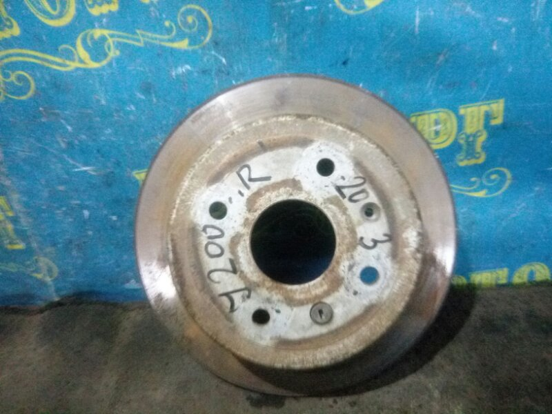 Тормозной диск Chevrolet Lacetti J200 F14D3 2007 задний