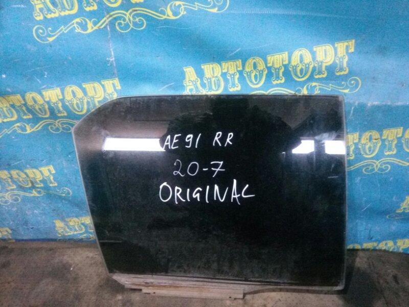Стекло двери Toyota Corolla AE91 5A 1989 заднее правое
