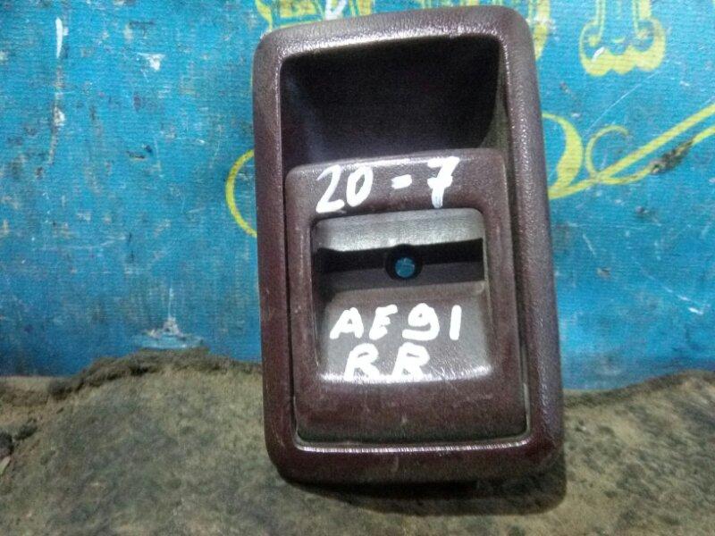 Ручка двери внутренняя Toyota Corolla AE91 5A 1989 задняя правая