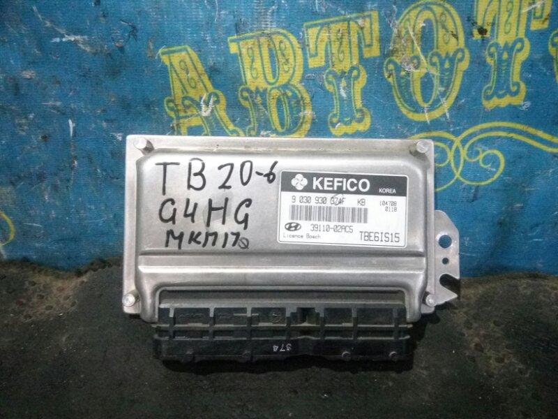 Блок управления двс Hyundai Getz TB G4HG 2010