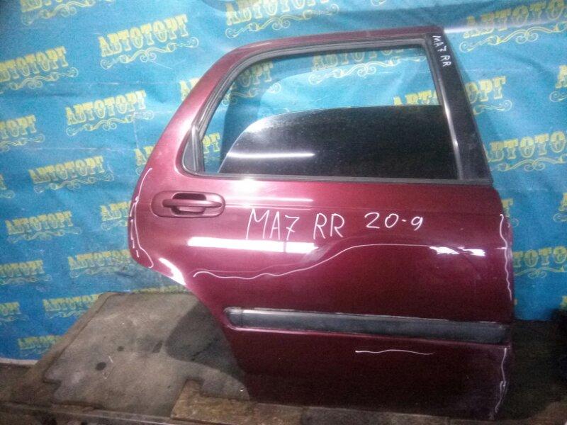 Дверь Honda Domani MA7 D15B 1996 задняя правая