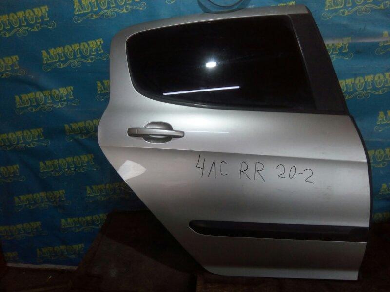 Дверь Peugeot 308 4AC EP6 2009 задняя правая