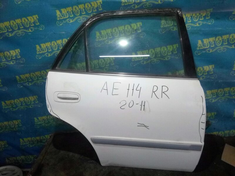 Дверь Toyota Corolla AE114 4A 1996 задняя правая