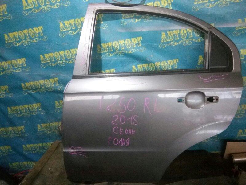 Дверь Chevrolet Aveo T250 F14D4 2008 задняя левая
