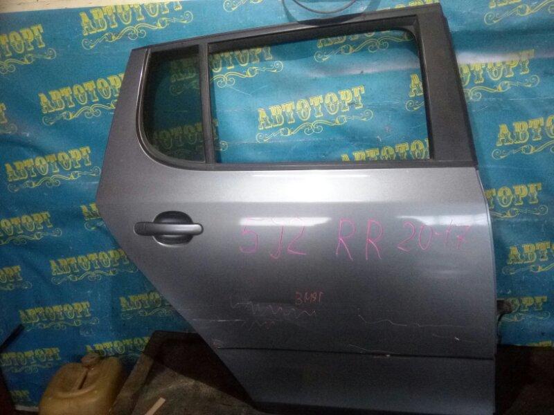 Дверь Skoda Fabia 5J2 CGGB 2012 задняя правая