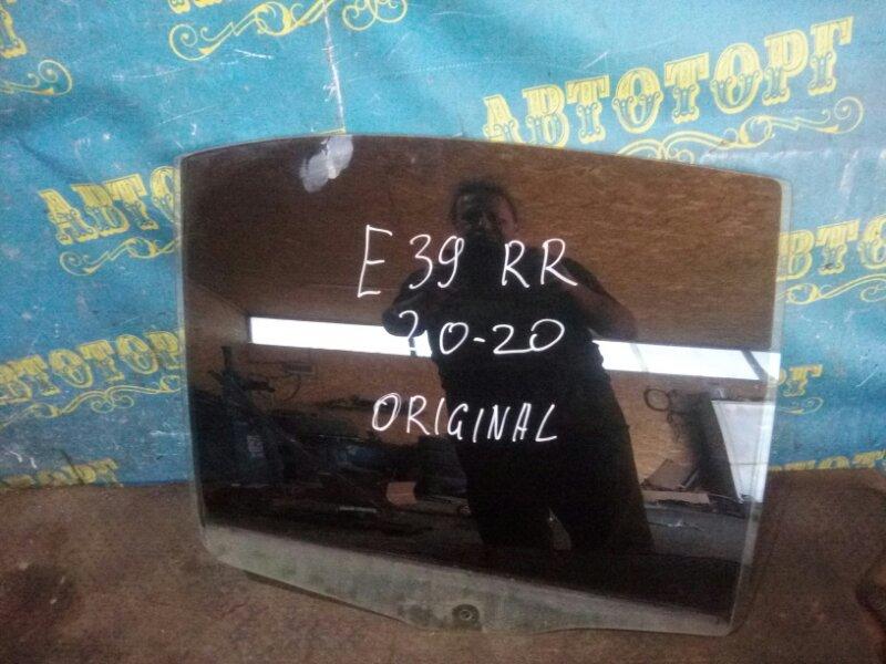 Стекло двери Bmw 5 Series E39 M52B25 1998 заднее правое