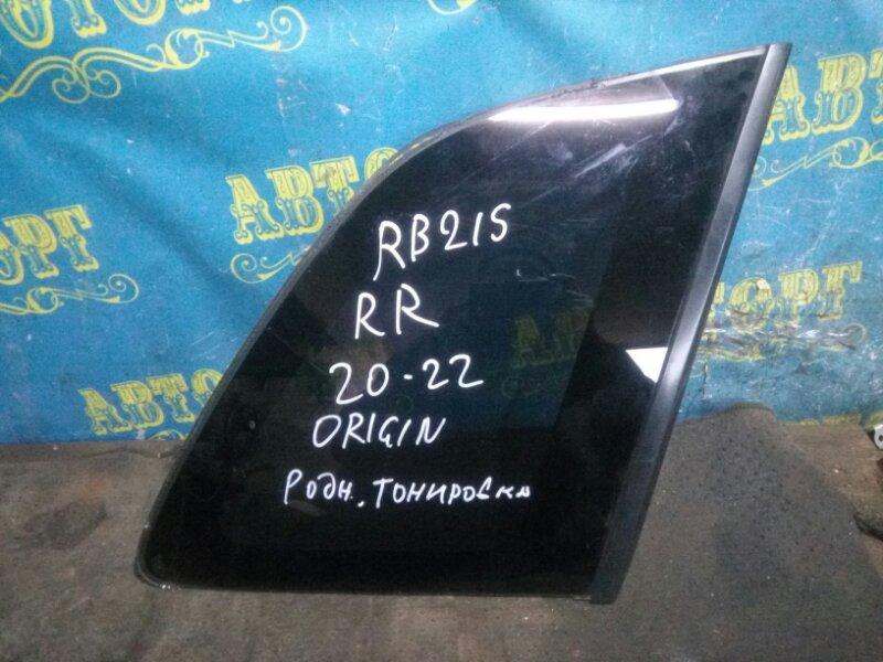 Стекло багажника Suzuki Aerio RB21S M15A 2001 заднее правое