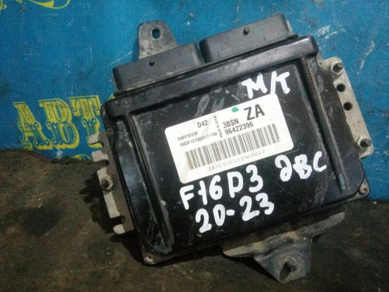 Блок управления двс Chevrolet Lacetti J200 F16D3 2012