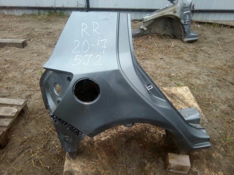 Крыло Skoda Fabia 5J2 CGGB 2012 заднее правое