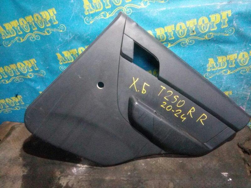 Обшивка дверей Chevrolet Aveo T250 B12D1 2009 задняя правая