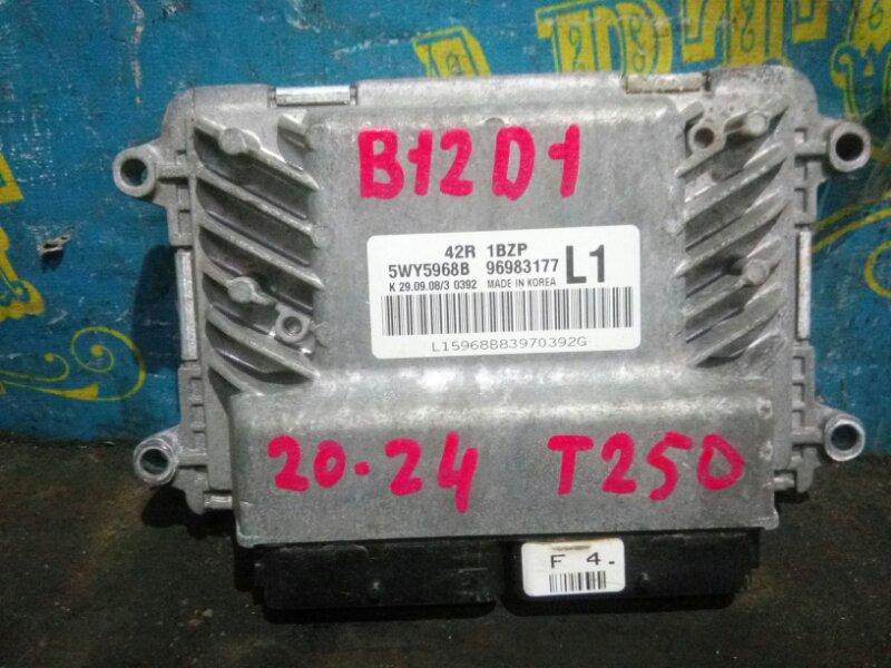 Блок управления двс Chevrolet Aveo T250 B12D1 2009