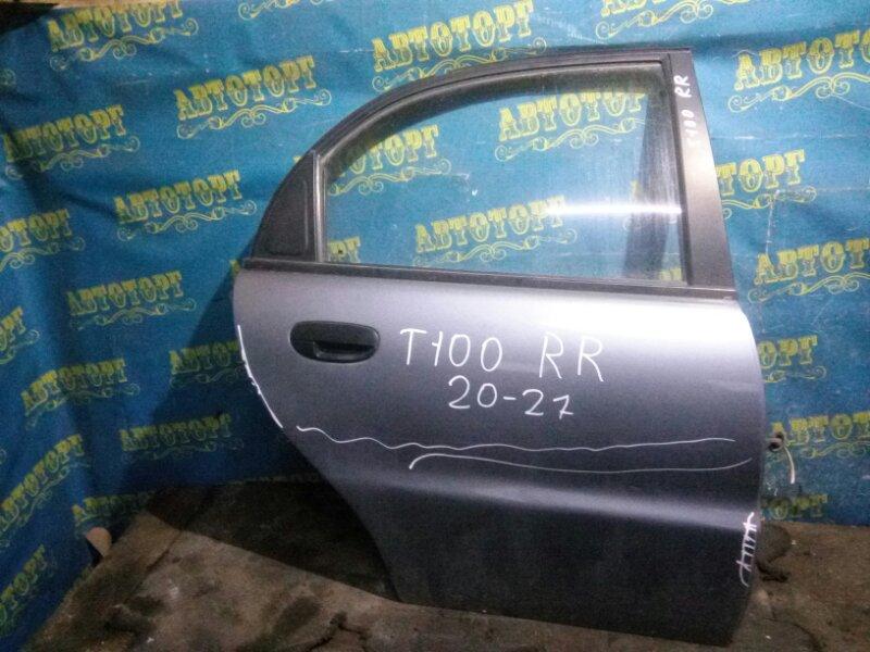 Дверь Chevrolet Lanos T100 A15SMS 2006 задняя правая