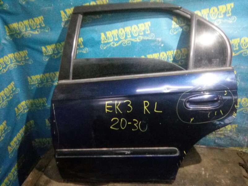 Дверь Honda Civic EK3 D15B 1998 задняя левая