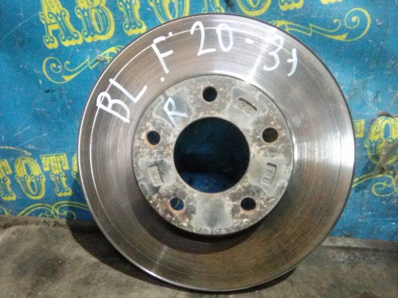 Тормозной диск Mazda 3 BL Z6 2012 передний