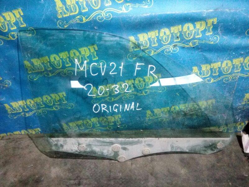 Стекло двери Toyota Windom MCV21 2MZ 2001 переднее правое