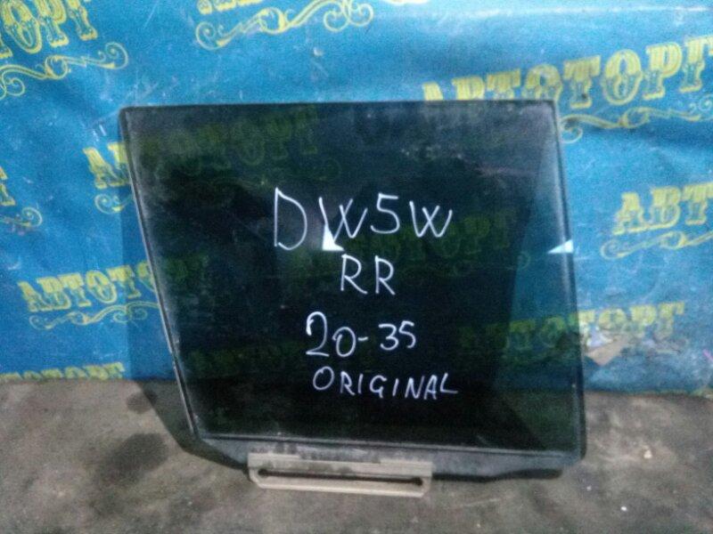 Стекло двери Mazda Demio DW5W B5 2000 заднее правое