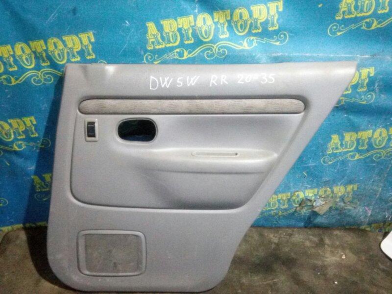 Обшивка дверей Mazda Demio DW5W B5 2000 задняя правая