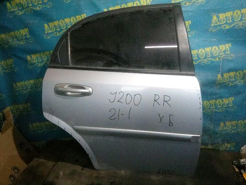 Дверь Chevrolet Lacetti J200 F14D3 2007 задняя правая