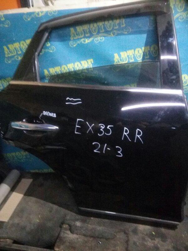 Дверь Infiniti Ex35 J50 VQ35HR 2008 задняя правая