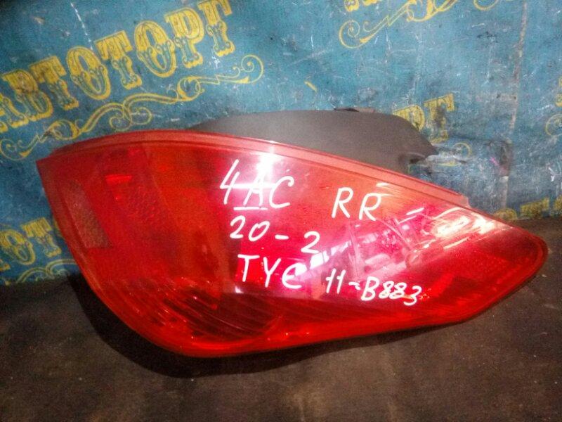Стоп сигнал Peugeot 308 4AC EP6 2009 задний правый
