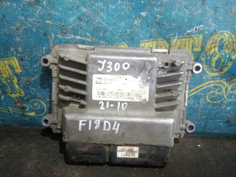 Блок управления двс Chevrolet Cruze J300 F18D4 2010