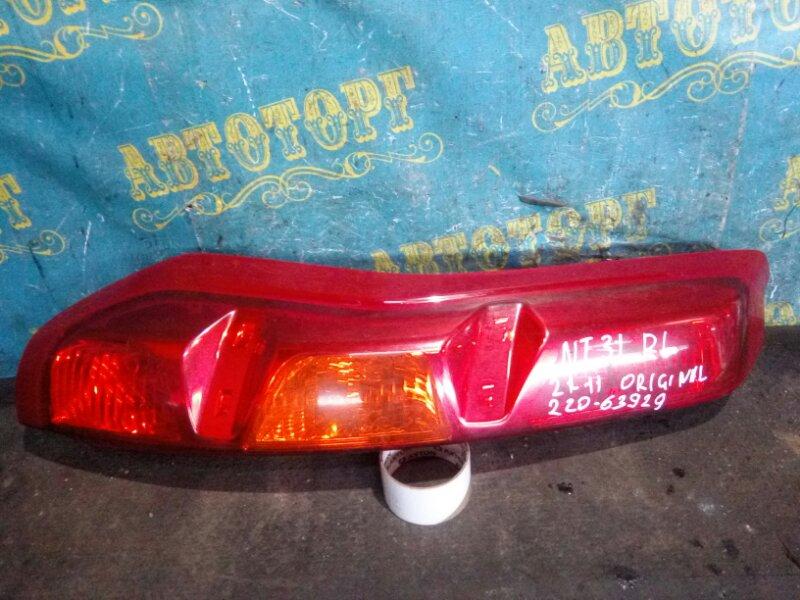 Стоп сигнал Nissan Xtrail NT31 MR20 2008 задний левый