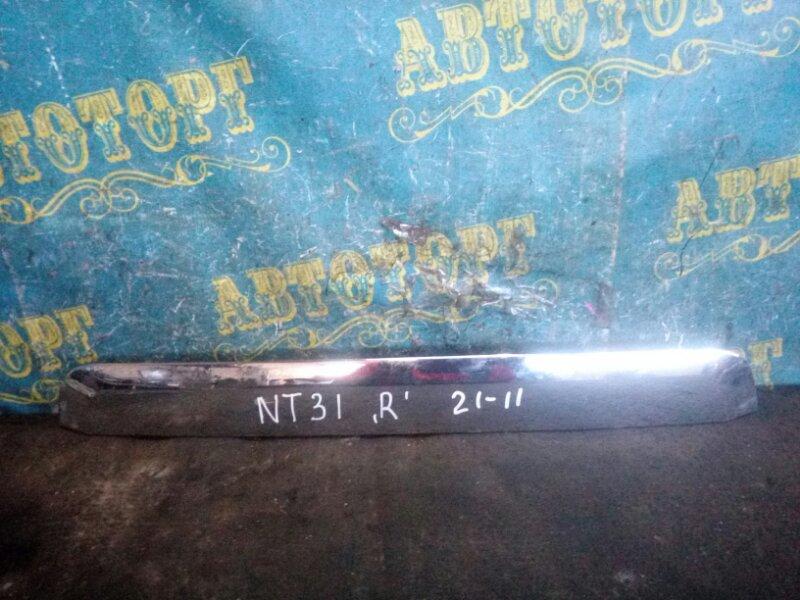 Накладка крышки багажника Nissan Xtrail NT31 MR20 2008