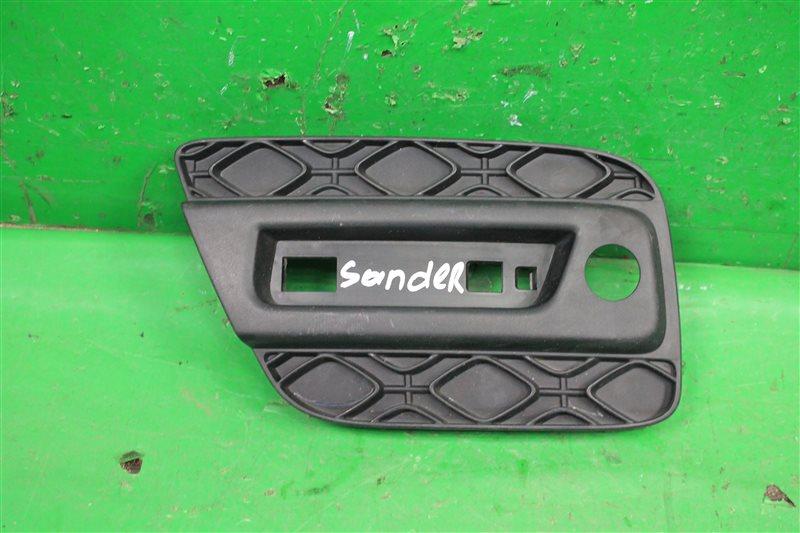 Накладка на бампер Renault Sandero 2 2014 задняя (б/у)