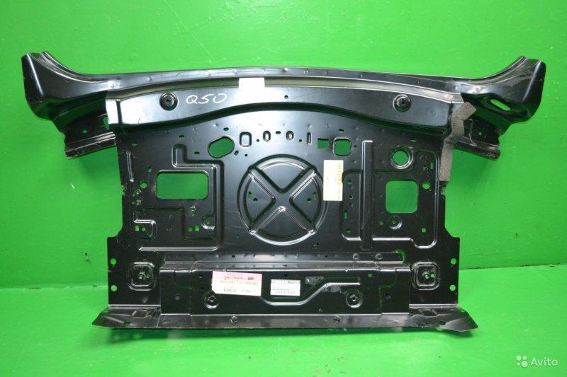 Защита бампера Infiniti Q50 2013 задняя (б/у)